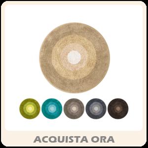 ISLA Tappeto Da Bagno Rotondo In Microfibra Vari Colori In Due Misure