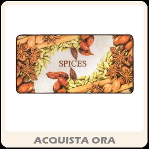 Tappeto Cucina Mod. MIAMI Passatoia Disegno Digitale Antiscivolo Varie Misure Variante SPICES