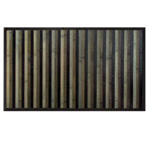 Tappeto Stuoia Da Cucina Modello Bamboo nero