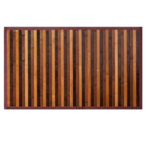 Tappeto Stuoia Da Cucina Modello Bamboo marrone