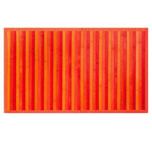 Tappeto Stuoia Da Cucina Modello Bamboo arancio