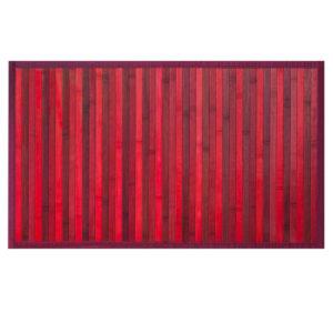 Tappeto Stuoia Da Cucina Modello Bamboo rosso