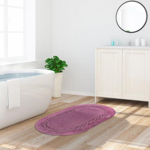 LAGUNA tappeto da bagno 100% cotone varie misure e vari colori - Malva LAGUNA Tappeto Da Bagno 100% Cotone