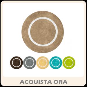 MOON - Tappeto Rotondo In Microfibra Colori Assortiti