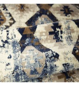 LOFT - ETHNIC BLUE, Tappeto Moderno Da Arredamento. Disponibile In Misure Assortite.